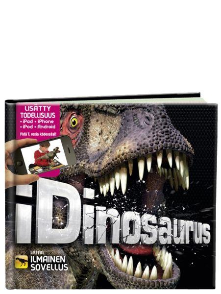 Hämmästyttävä iDinosaurus-kirja herättää eloon esihistorialliset dinosaurukset! Kirja tarjoaa mahtavan tietopaketin kiehtovista dinoista, ja vielä enemmän saat kirjasta irti tekniikan avulla. Huikean lisätyn todellisuuden käyttöön tarvitset mobiililaitteen kuten iPadin, iPhonen tai Android-puhelimen. Niiden avulla loihdit kirjan dinosaurukset kuvaruudullesi ja saat ne liikkumaan sujuvasti ja karjahtelemaan.