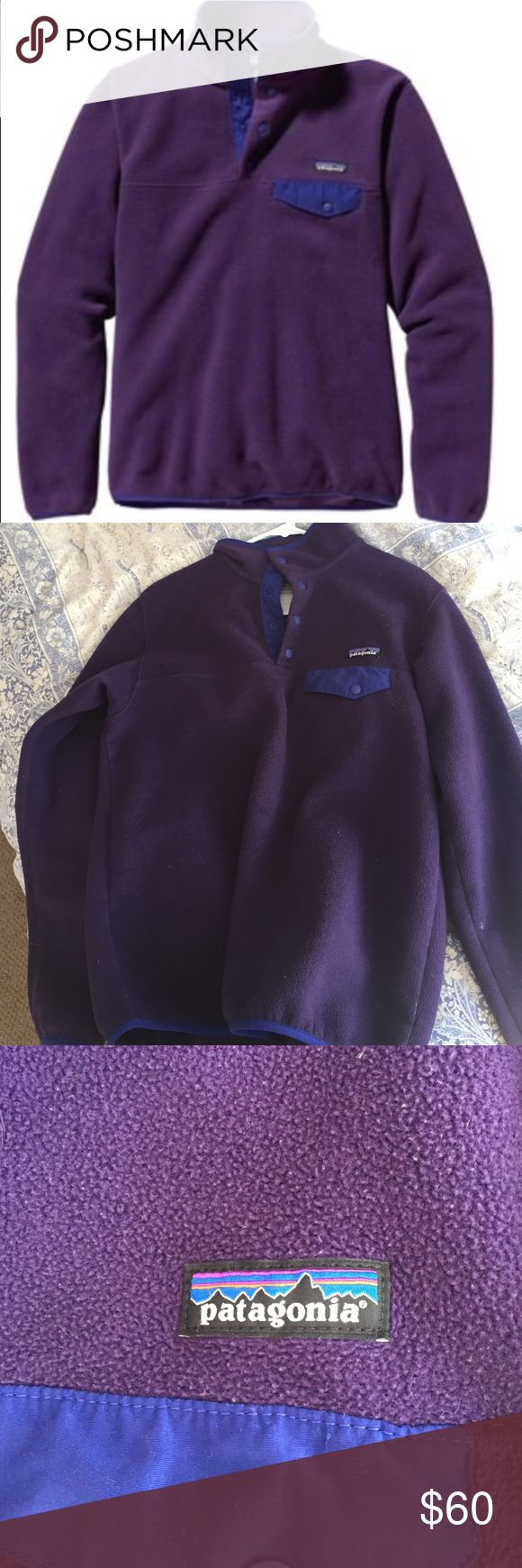 Patagonia synchilla jacket super cute I just don't wear it. size medium and in great condition. Patagonia Tops Sweatshirts & Hoodies