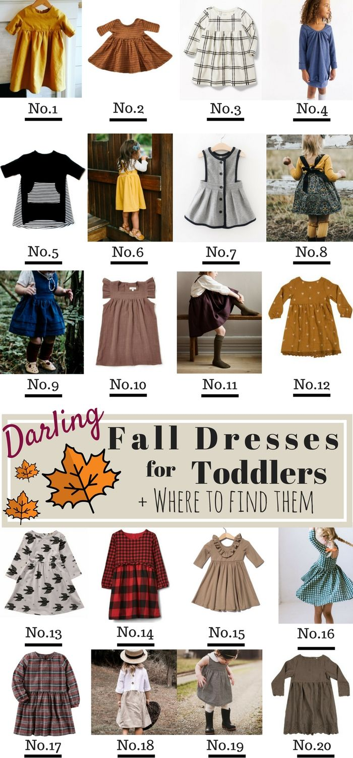 Fall Dresses for Girls and where to find them! Shop Adorable Fall Dresses for Girls and Toddlers, perfect for Thanksgiving! Toddler Fashion // Dresses for Toddlers // Fall Dresses 2017 // Shop Small // Long Sleeve Dresses // Toddler Outfit Ideas // #ToddlerStyle #GirlsDresses #ShopSmall