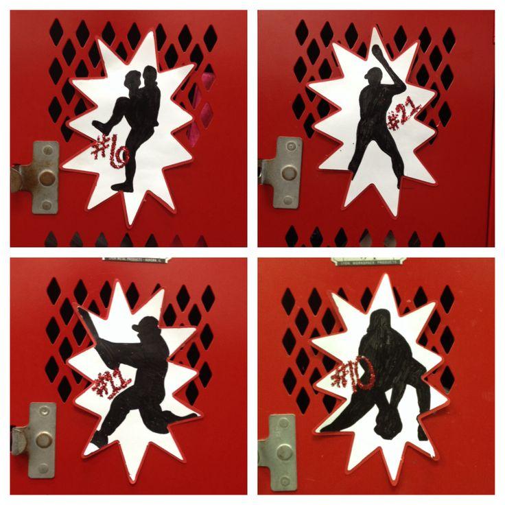 This weeks Senior Baseball locker decorations- making Jakes year as memorable as possible