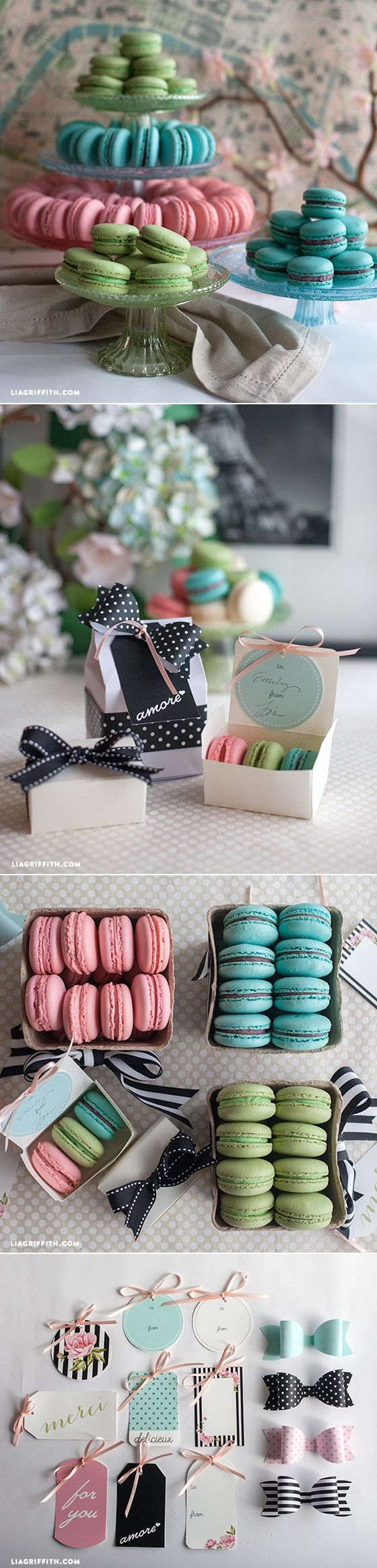 Printable Gift Tags at www.LiaGriffith.com #SpringtimeinParis