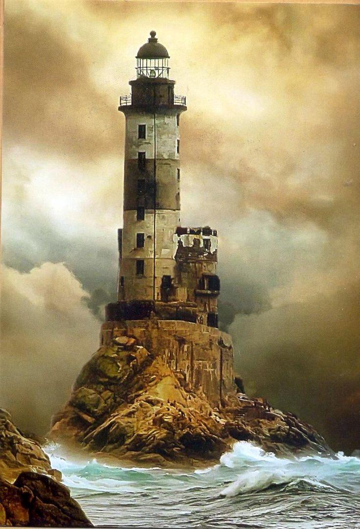 Aniva lighthouse, Sakhalin, Sea of Okhotsk, Russia