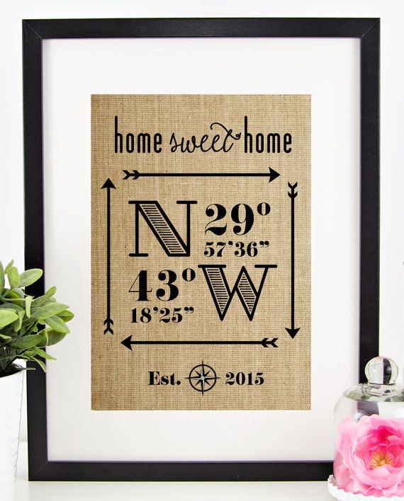 Hey, I found this really awesome Etsy listing at https://www.etsy.com/listing/229888068/latitude-longitude-sign-house-warming
