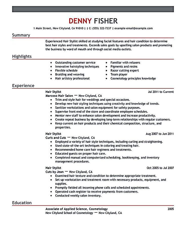 Best 25+ Good resume objectives ideas on Pinterest Professional - cosmetology resume examples