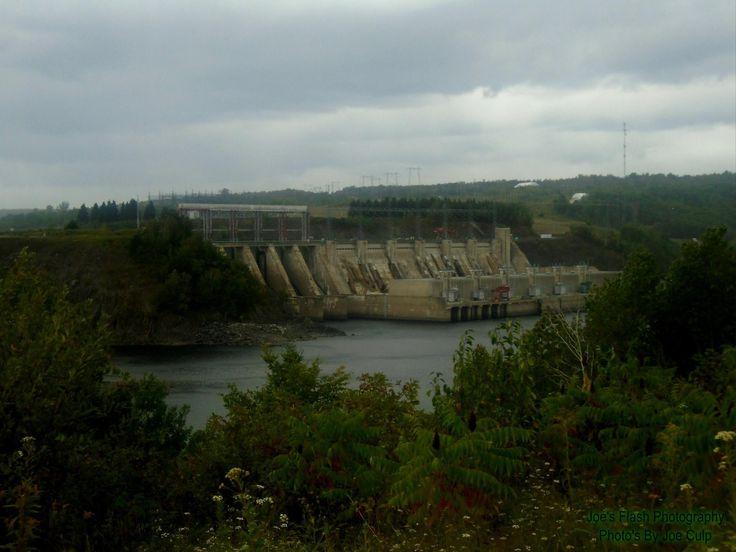 New Brunswick Power Hydro dam on the Saint John River September 1st 2017 near Fredricton