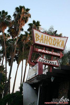 Bahooka Restaurant in West Covina, CA. The lush interior features a shipwreck theme with bamboo, tortoise shells, nautical artifacts, and over 100 aquariums.