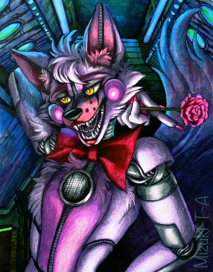 Recent days I left from drawing but I'm back. I drew one of my favorite, Funtime Foxy.