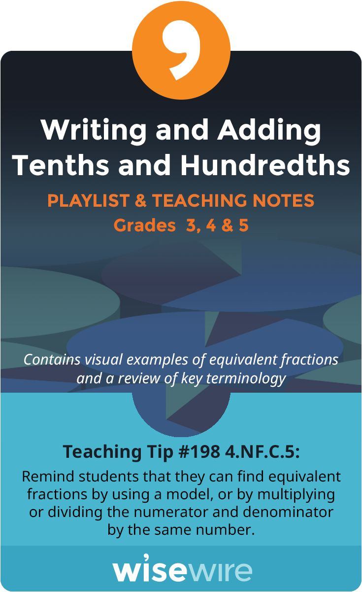 Writing And Adding Tenths And Hundredths  Playlist And Teaching Notes