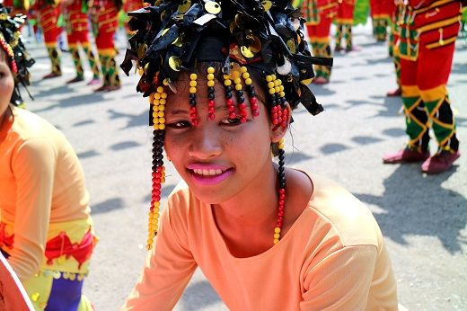 Smiling dancer during the Kadayawan Festival