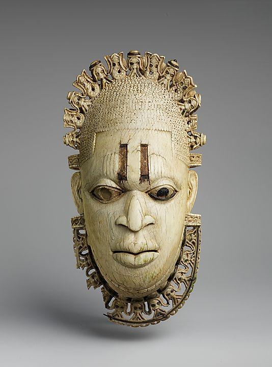NIGERIA | Queen Mother Pendant Mask: Iyoba, 16th century. Nigeria. The Metropolitan Museum of Art, New York. The Michael C. Rockefeller Memorial Collection, Gift of Nelson A. Rockefeller, 1972 (1978.412.323) #WorldCup
