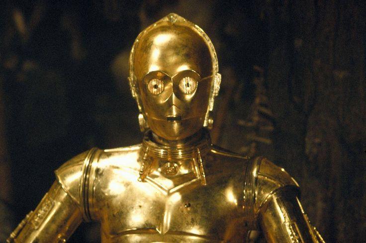 Star wars droids droid robot robots c 3po c3po sci fi science fiction fantasy a new hope episode - Robot blanc star wars ...