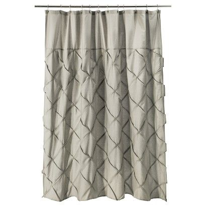Threshold™ Pintuck Shower Curtain - Gray. Also comes in white. (Target)