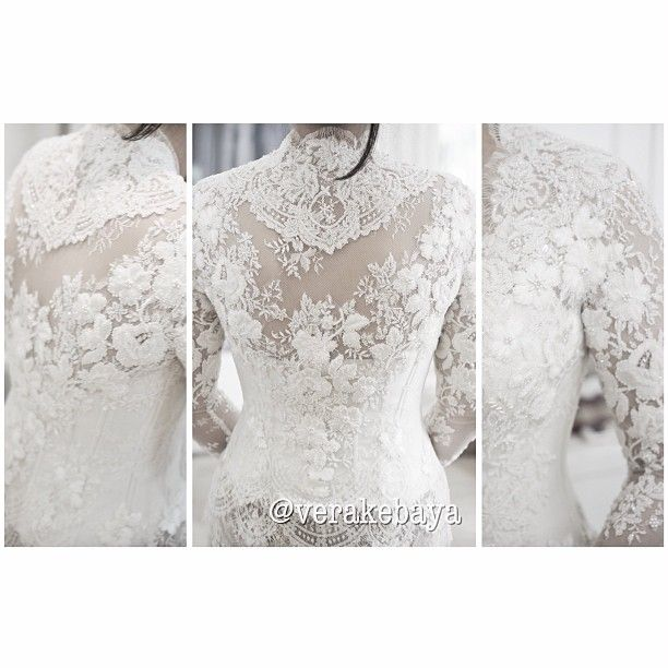 White wedding kebaya. Follow verakebaya on ig.