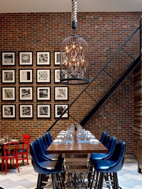 how to hang art on exposed brick