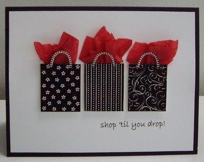 Cricut Birthday Cards | Shopping Card | card ideas
