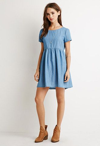 Chambray Babydoll Dress | Forever 21 - 2000131330