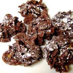 chocolate cornflake treats. crunchy.
