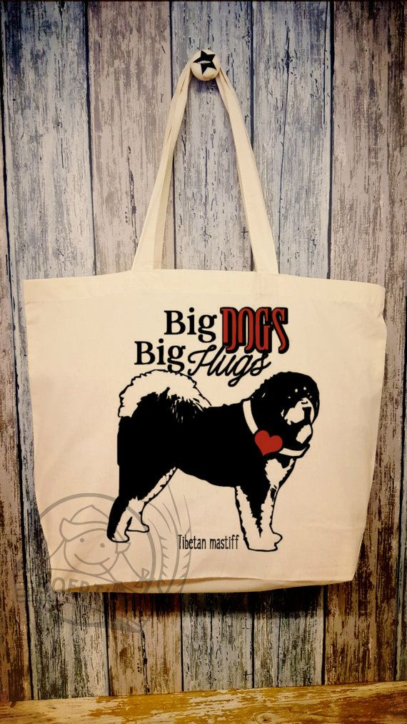 Tibetan mastiff cotton bag Tibetaanse mastiff van Boertiek op Etsy