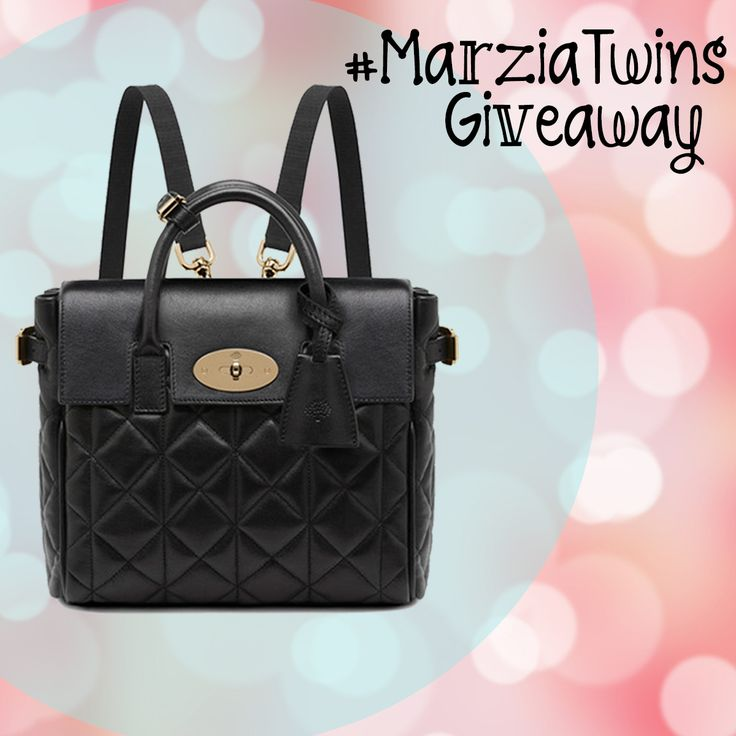 Let's be #marziatwins and win @CutiePieMarzia's favorite handbag, the Mini Cara Delevingne Bag by Mulberry!