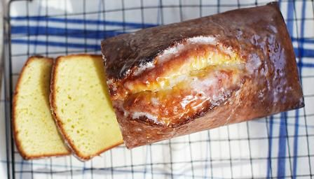 Raymond Blanc's lemon drizzle loaf cake is a French teatime favourite