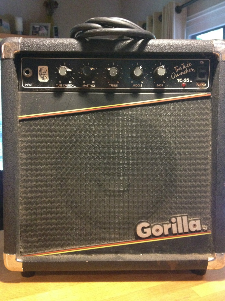 Gorilla TC-35 '80s Bedroom Amp. Nearly identical to my new vintage amp. Yuuuuuus!!!