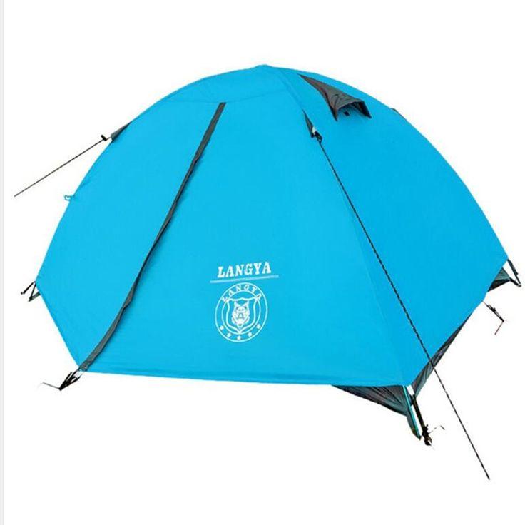 49.99$  Watch here - http://ali4js.worldwells.pw/go.php?t=32616361738 - Ultralight 2 People barraca de carpas Camping beach Tent Outdoor Hiking Trekking Fishing Double Layer Tents Gazebo Blue tenda