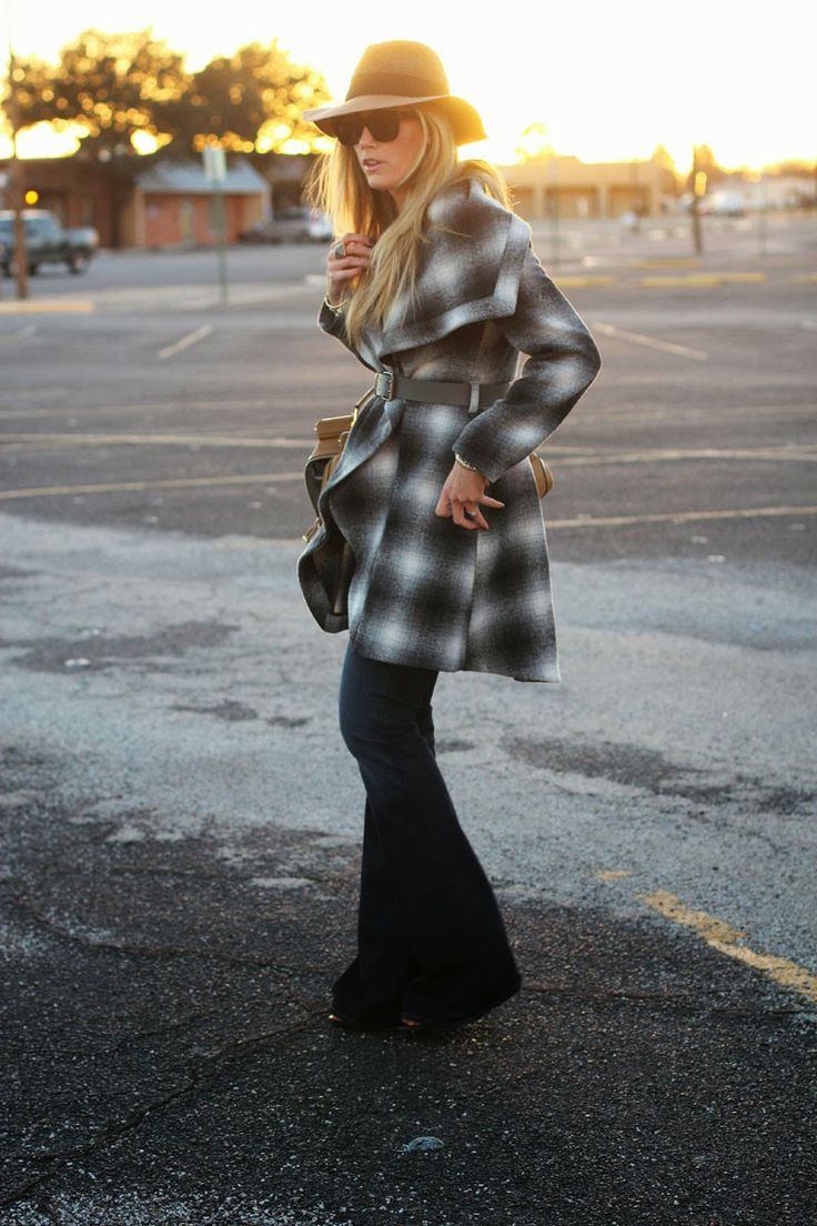 hat by @Anthropologie | Devon Rachel | see more on http://www.devonrachel.com/2014/01/chic-coat-and-jeans.html