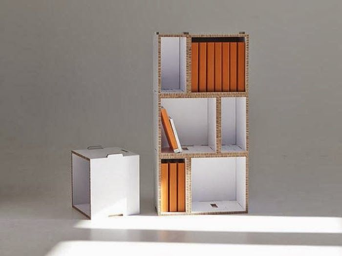 Recycled cardboard furniture from jarvi-ruoho