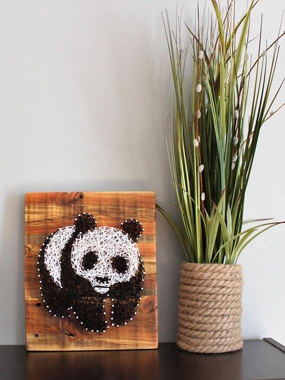 Стринг арт шаблоны панда