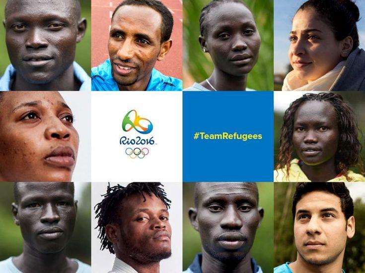 Os integrantes da equipe Olímpica de Atletas Refugiados que disputará os Jogos do Rio 2016.