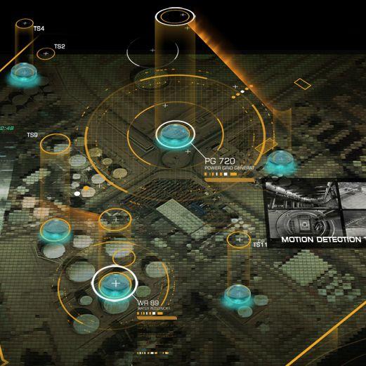Deus Ex Human Revolution - User Interface by Eric Bellefeuille, via Behance