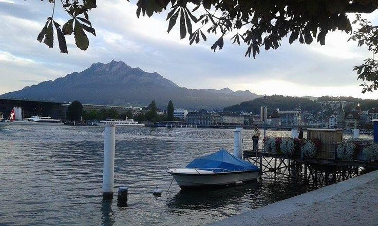 Luzern lake, Pilatus, Switzerland