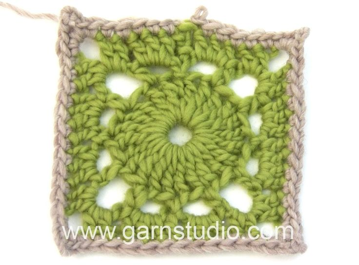 DROPS Crocheting Tutorial: How to work square for the blanket in DROPS 163-4