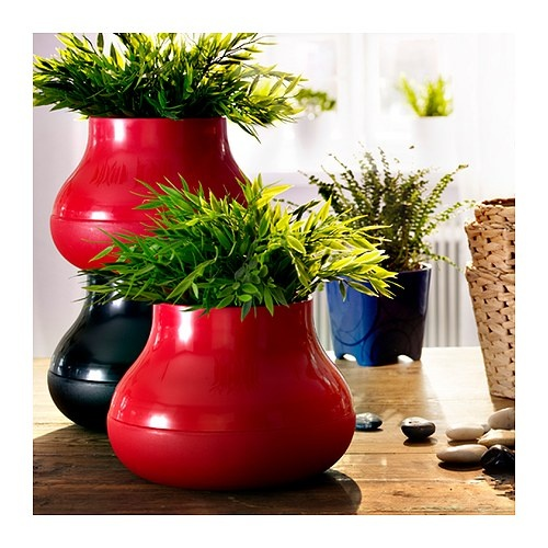 48 best images about plant pots on pinterest for Black planters ikea