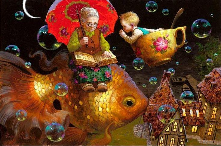 Художник Виктор Низовцев. Детские иллюстрации. Бабушкина сказка