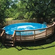 16 modelos de piscinas redondas de fibra e plástico e 7 itens para instalação