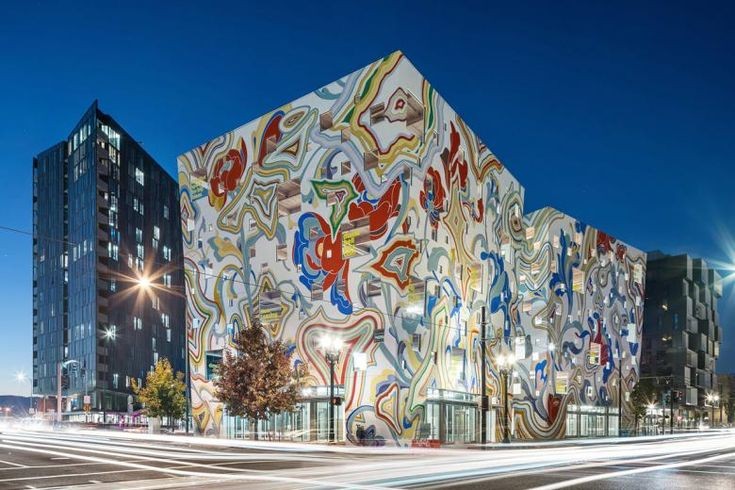 """Painting the Fair-Haired Dumbell - The Fair-Haired Dumbell is a speculative office building by Guerrilla Development in Portland, Oregon, east of Burnside Bridge. Designed by FFA Architecture + Interiors and covered in a mural by Los Angeles artist James Jean, the project embodies the city's unofficial motto, """"Keep Portland Weird."""" A short film documents the mural's creation."""