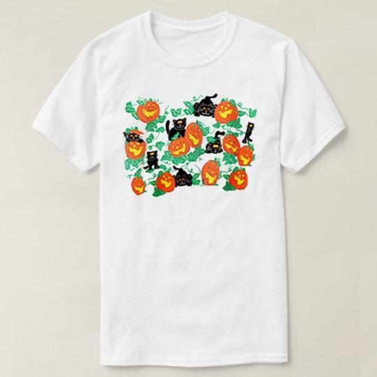 Halloween Cat Pumpkin Face Custom Shirts