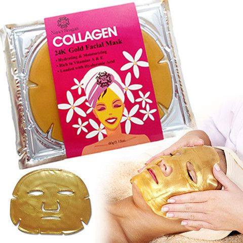 The DIY - at home Professional Nancy Reagan 24K Gold Collagen Face Mask- loaded with collagen, nutrients to soften and detoxify the skin.  Because the mask is so occlusive, it forces the skin to absorb the plant collagen at almost 10 times the rate of traditional facial masks. Good for dehydrated skin, rosacea, dry skin, and normal.  Ages 30+.  You will LOVE it!