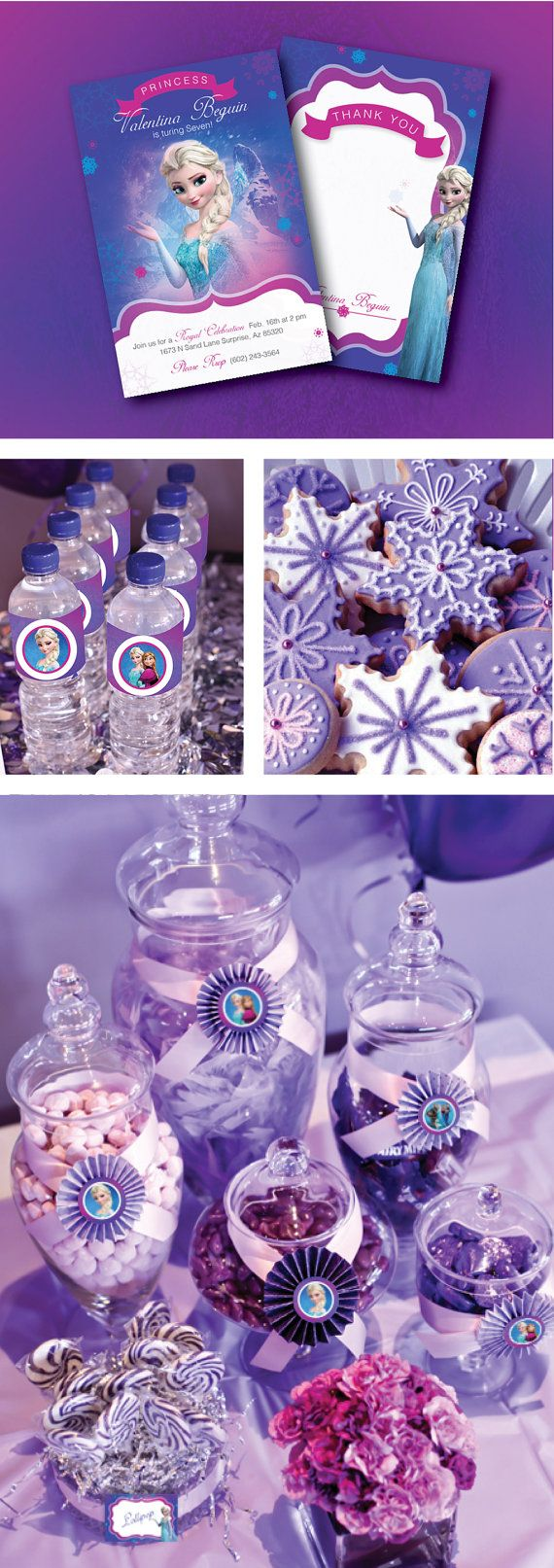 Frozen Birthday Party by GardellaGlobal. this will be the perfect theme for livi birthday party