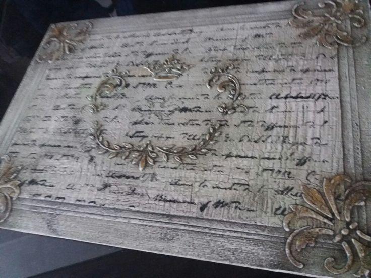 Crackle#layered#stencil#glaze#crown#antique#FINISH🙄
