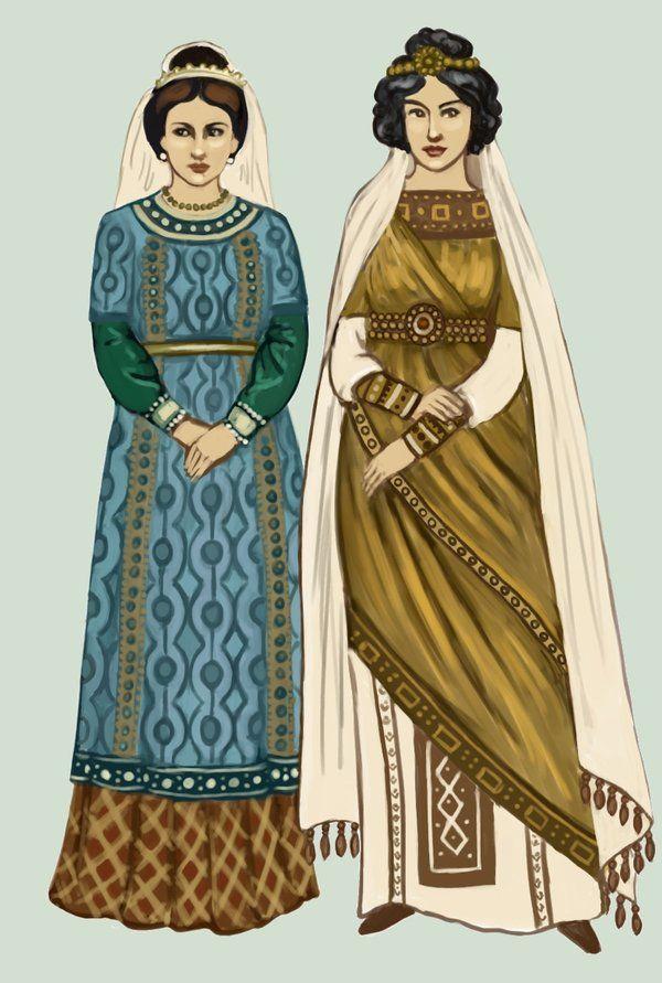 Byzantium fashion (around 6th century)