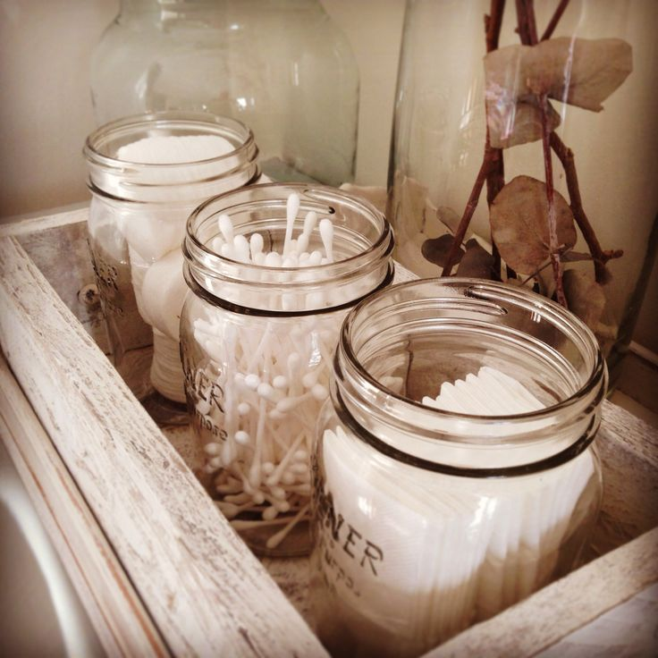 Kilner jars aren't always about the kitchen. They make ideal vintage storage solutions for your bathroom also!