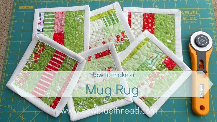 How to make a MUG RUG pdf downloadable pattern.