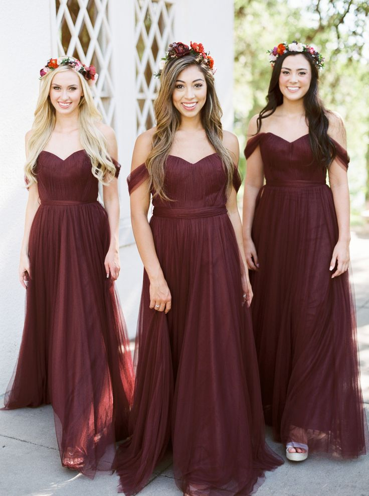 burgundy tulle Pippa dress from Revelry