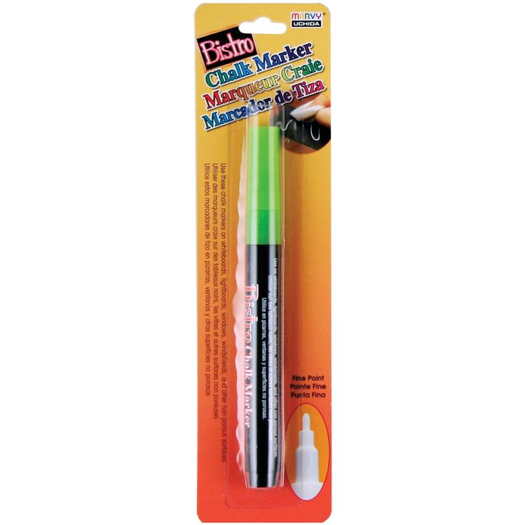 Bistro Chalk Marker Fine Point - Fluorescent Green