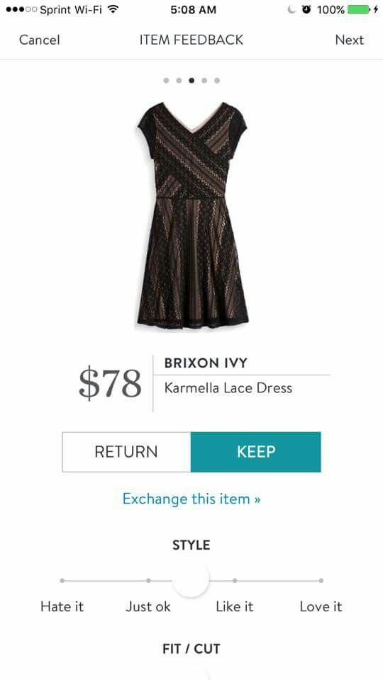 This looks like an interesting dress with a flattering fit. I'd love to try it in a fix. -E  Brixon Ivy Karmella dress