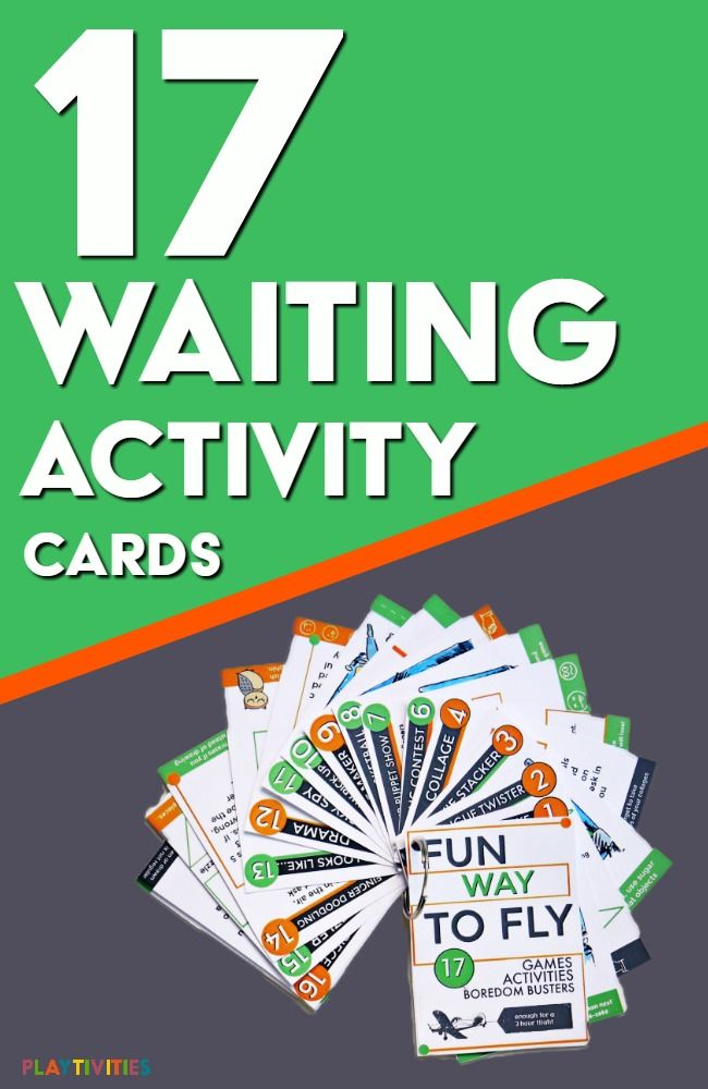 These travel activity cards for flights with the kids, for long car rides, for waiting at the doctor's office. It will be a life saver when you need a simple waiting game.