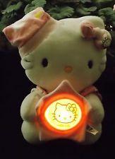 Plush Hello Kitty Nightlight  Pink Pajamas Bedtime Tap Light  Night Light Up