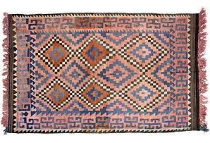 Afghan Dhurrie via @OneKings Lane Vintage & Market Finds